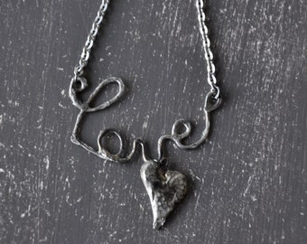 Love soldered necklace