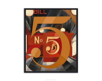 I Saw the Figure 5 in Gold - by Charles Demuth - LARGE vintage poster - ,P092