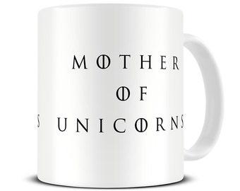 Mother of Unicorns Coffee Mug - funny mugs - unicorn mug - unicorn gifts - funny coffee mug - gift for her - mom mug - mom gift MG543