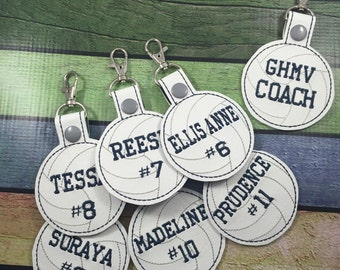 Sports Team Bag Tags - backpack tags - volleyball - tennis - football - baseball - softball - basketball - team pack - free coach gift