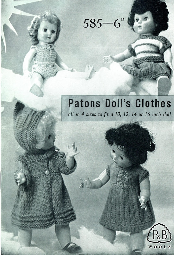Magnífico Free Knitting Patterns For 14 Inch Doll Clothes ...
