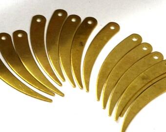 100 Pcs Raw Brass 32x5 mm spike shape Charms ,Findings 285R-44