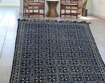 Indigo Flower Tile Rugs