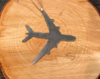 Rustic Steel Airplane Metal Plane Ornament