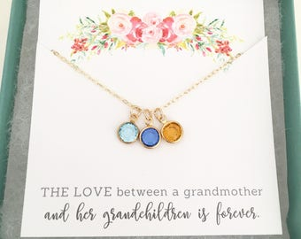 Mothers Day Gift, Birthstone Charm Necklace - Grandma Gift - Gifts for Grandma - Grandmother Gift - Grandmother Necklace - Grandma Gift