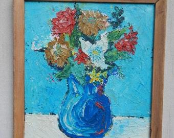 Vibrant Impasto Floral Oil Painting!