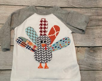 Thanksgiving shirt, boys fall shirt, boys thanksgiving shirt, turkey raglan