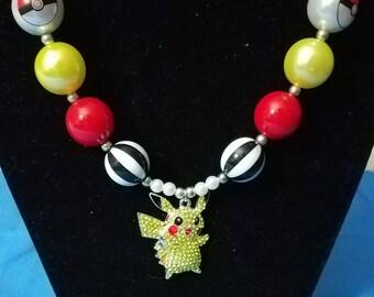 Pikachu Chunky Kids Necklace