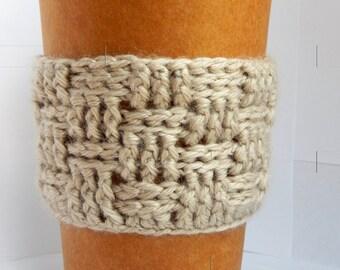 Basket Weave Coffee Cup Cozy