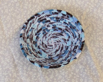Mini Coiled Fabric Basket/ Bowl, Paper Clip Holder, Jewelry Holder
