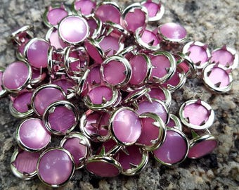 Pink Pearl Snaps, Pearl Snap Fasteners, 12 mm Pearl Snaps, size 16 pearl snaps