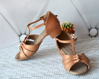 Ballroom Dance Shoes latin salsa T-Strap Dance Heels professional children's US 12-13 dance shoes Disco sparkle shoes Gatsby