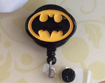 Batman Logo Resin Retractable ID Badge Reel, Nurse Badge Reel
