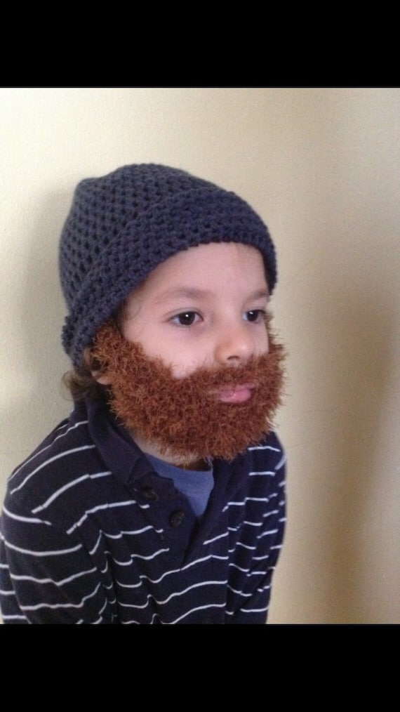 Child Knit Hat With Beard Pattern Instructions