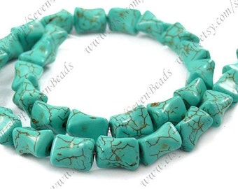Superb turquoise bone stone beads loose  strands