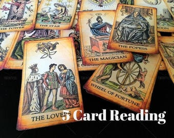 Tarot Card Reading - 5 Tarot Spread - Tarot cards - Answers to any situation or concern