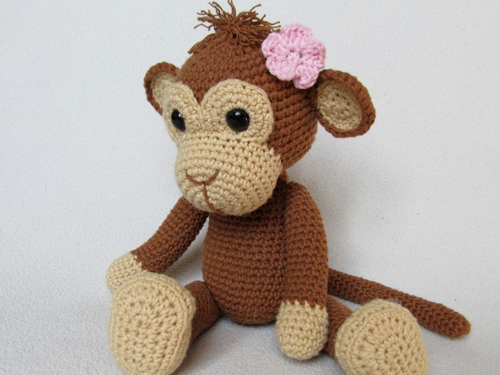 Amigurumi Monkey Patterns : Sweet monkey julie amigurumi crochet pattern pdf e book