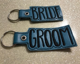 Bride/Groom Keychains