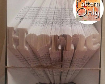 Home (with Heart) Folded Book Art Pattern