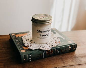 Sherwood Forest Inspired Bookish Candle w/ Soy Wax