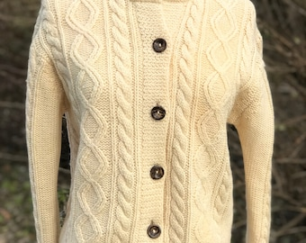 Vintage Hand Knit Wool Coat by Great Northern Woolens/ Medium/ Large AEGvIlThED