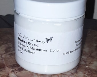 Blushing Orchid Softener & Moisturizer Lotion for Body/Hand 4 Oz Paraben-Fomaldehyde Free