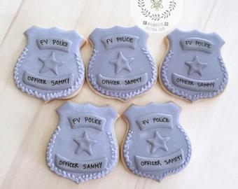 Police Badges Cookies
