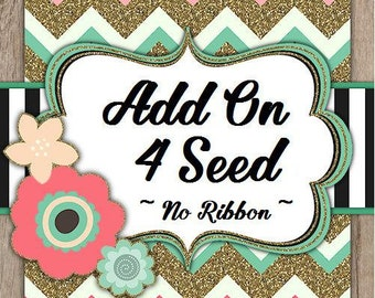 Add on Pack Four Flower Seed Favors (No Ribbon) SALE CIJ Christmas in July