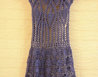 Crochet Dress Women Boho Bohemian Hippie Gypsy Handmade Clothes