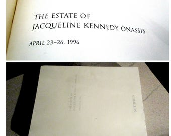 Jacqueline Kennedy Onassis, The Estate of, Sothebys Jackie Kennedy Estate Sale Catalogue, with Sold For Price Listing