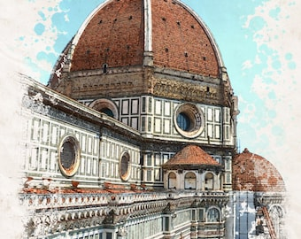 The Duomo Florence Tuscany Italy Photograph Print