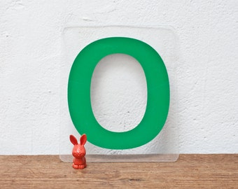 Vintage Marquee Letter O - Green Marquee Plastic Letter O Sign Vintage Sign Gas Station