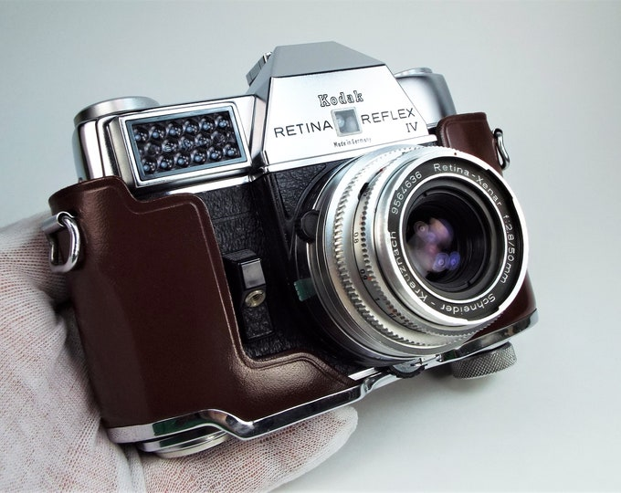Kodak Retina Reflex IV 35mm SLR w/Schneider Retina-Xenar 50mm f2.8 Lens - Made in Germany 1965 - 100% Tested and Inspected - Mint Condition