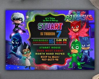 Pj Masks/PJ Masks Invitation/PJ Masks Birthday/PJ Masks Party/Pj Masks  Birthday Invitation/Pj Masks Party Supplies/Pj Masks Printable