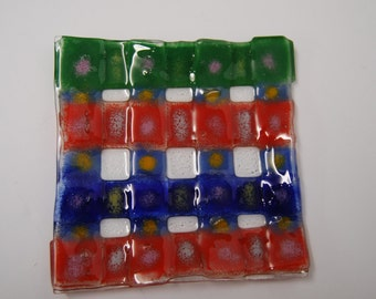 Art Glass Plate of Abstract Design