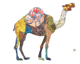 Camel Open Edition // home decor// Art Print// camel art // middle eastern  5x7, 8x10, 11x14, or 13x19
