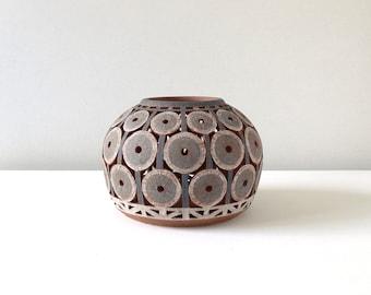 Lantern -Gray/White with Circle Pattern