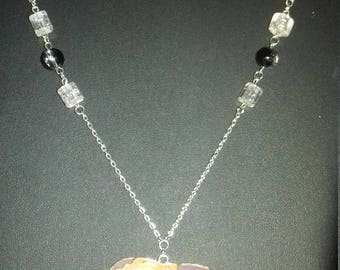 Fantasy original handmade necklace with earrings for women.