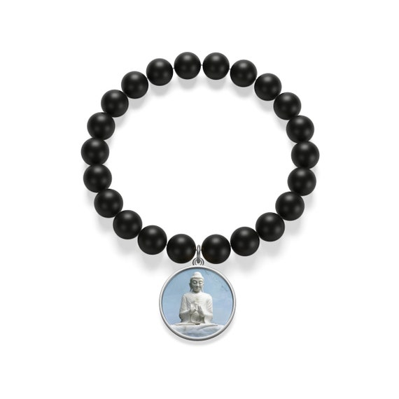 Buddha Matte Onyx Bracelet For Calmness Steadiness A Reminder Of Peace And Tranquility