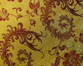 150 CM. In the luxury embroidery (127) A beautiful brocade fabric