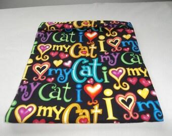 Large, Microwave Potato Bag, I Love My Cat, Baked Potato Bag, Potato Bag, Cat Potato Bag, All Cotton, Handmade, Kitchen Utensil, Gift