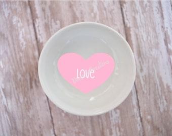 Love Conversation Heart Ring Dish