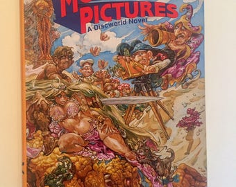 First Edition Rare Collectible Book Sci Fi  Terry Pratchett  Moving Pictures  A Discworld Novel