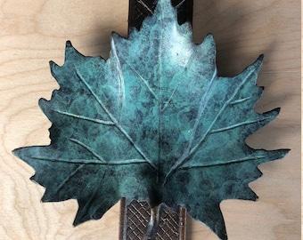 Bronze Maple Leaf Doorknocker