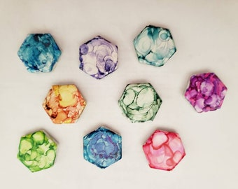 Mini abstract watercolor magnets - Set of Three