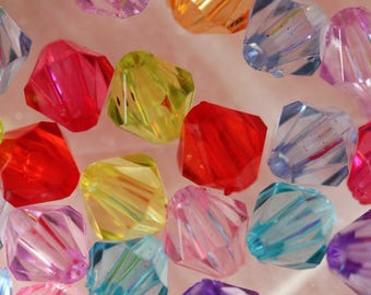 set of 50 multicolored beads