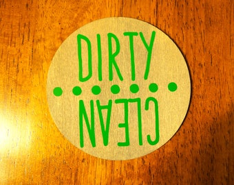 Dishwasher Magnet Dots; Clean & Dirty Diswasher Magnet; Clean or Dirty Magnet