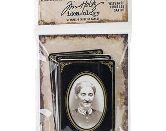 FRAMED PORTRAITs for HALLOWEEN  by TIM HOLtZ -  Pack of 6  #TH93616 New !!
