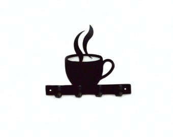 Coffee Cup Key Rack