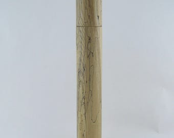 Spices and peppermill grinder in spalted Ash , Cylinder style with rod mechanisme  17 3/4 in article no: 693
